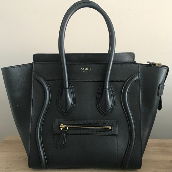 Celine Handbags - CÉLINE MICRO LUGGAGE HANDBAG IN SMOOTH CALFSKIN